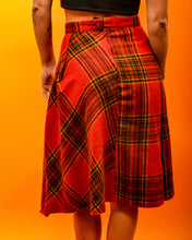 Load image into Gallery viewer, Tartan Soft Wool Skirt - The Bearded Gypsy Vintage Co.