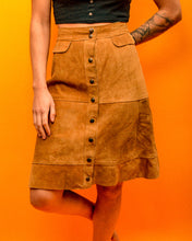 Load image into Gallery viewer, Kentucky Suede Skirt - The Bearded Gypsy Vintage Co.