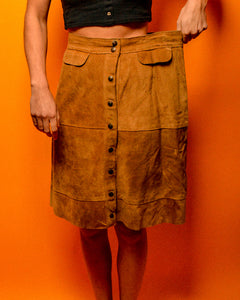 Kentucky Suede Skirt - The Bearded Gypsy Vintage Co.