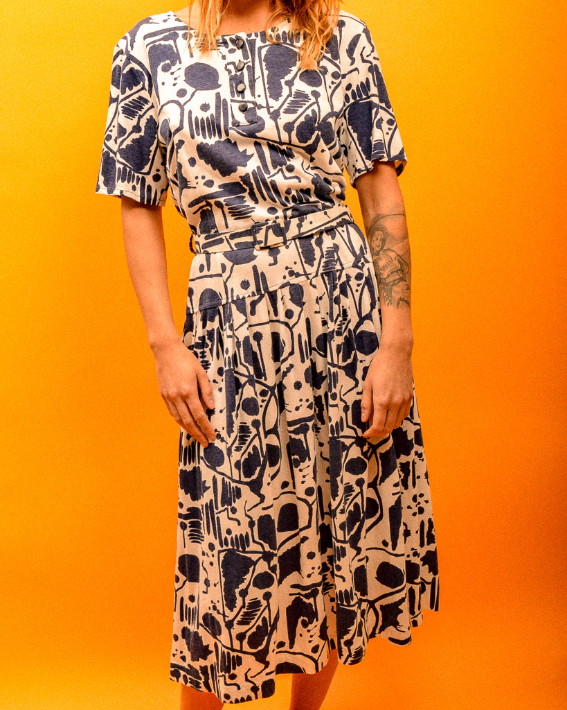 Soft and Comfy Pattern Dress - The Bearded Gypsy Vintage Co.