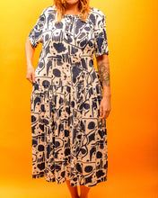 Load image into Gallery viewer, Soft and Comfy Pattern Dress - The Bearded Gypsy Vintage Co.
