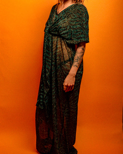 Mamma Moon Tiger Print glitter dress - The Bearded Gypsy Vintage Co.