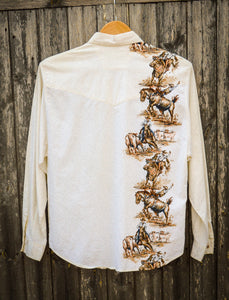 Rodeo Ride a Cowboy Western Shirt - The Bearded Gypsy Vintage Co.