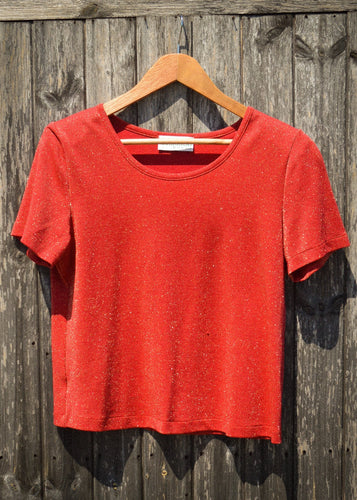 Ab-Fab Shoulder Pad Glitter Tee - The Bearded Gypsy Vintage Co.