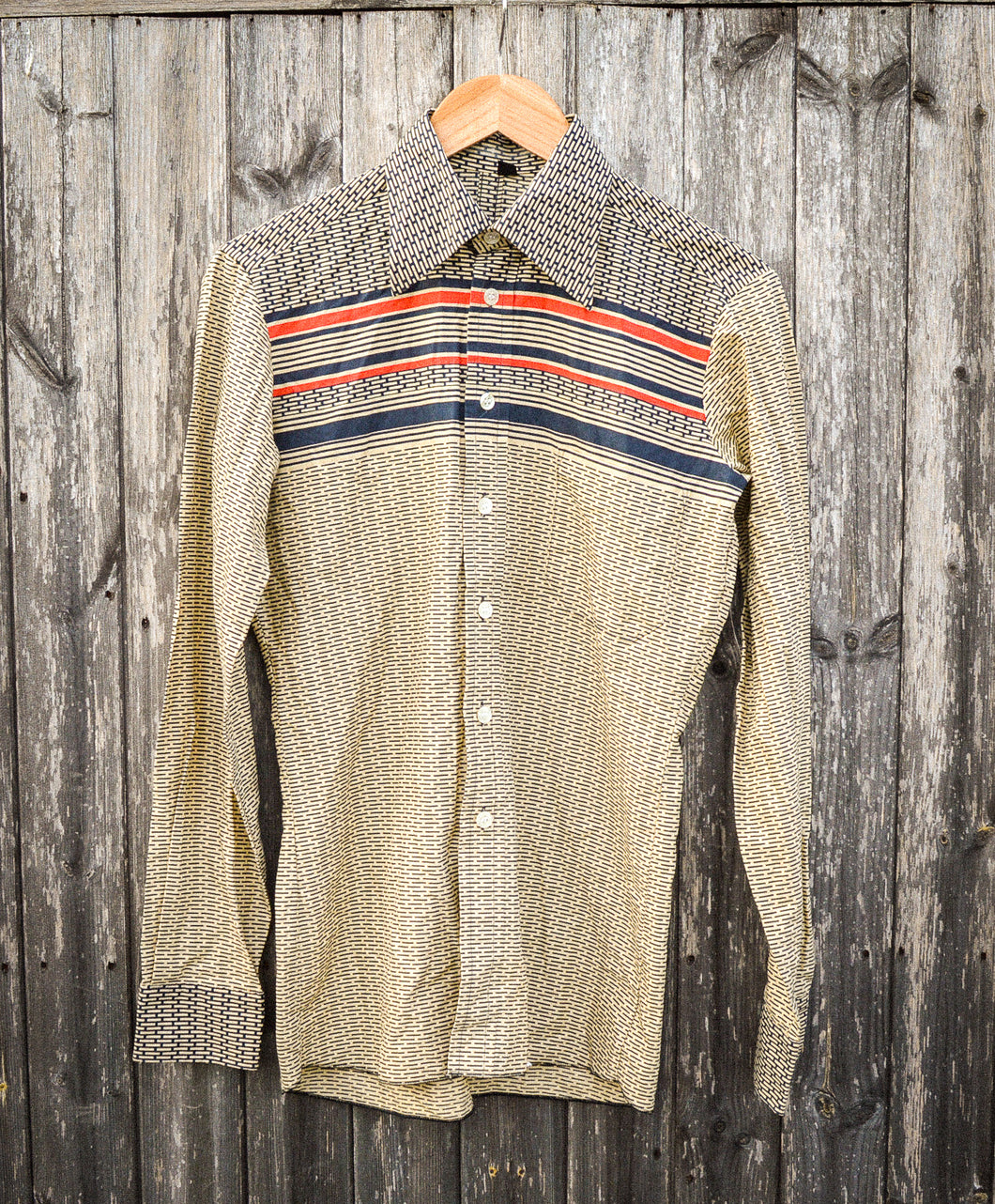 Thin Slim Fit 70's Collar Disco Shirt - The Bearded Gypsy Vintage Co.