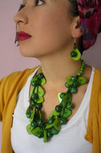 Load image into Gallery viewer, Latino Accessories Blue Tagua Chunky Necklace - The Bearded Gypsy Vintage Co.