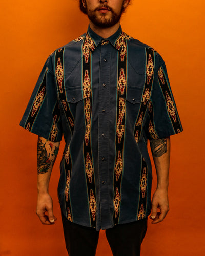 Sweet Dakota Aztec Wrangler Shirt - The Bearded Gypsy Vintage Co.