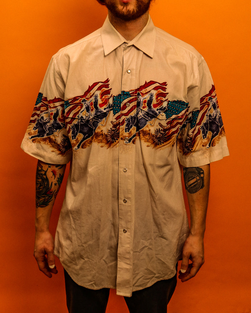 Rodeo Short Sleeve Shirt - The Bearded Gypsy Vintage Co.