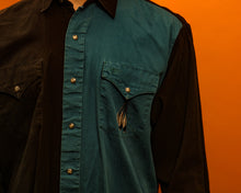 Load image into Gallery viewer, Western Blue Shirt - The Bearded Gypsy Vintage Co.