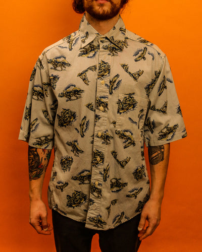 Howlin' Wolf Thick Cotton Shirt - The Bearded Gypsy Vintage Co.