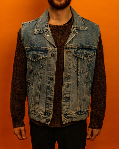 Denim pickford gillet jacket - The Bearded Gypsy Vintage Co.