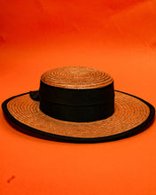 Load image into Gallery viewer, Laura Ashley Straw Hat - The Bearded Gypsy Vintage Co.
