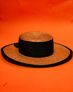 Laura Ashley Straw Hat - The Bearded Gypsy Vintage Co.
