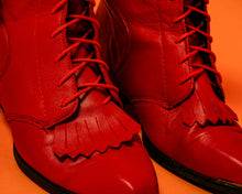 Load image into Gallery viewer, Deadstock Red Durango Roper Boots - The Bearded Gypsy Vintage Co.