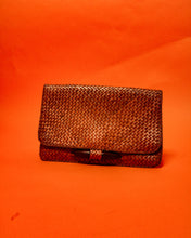 Load image into Gallery viewer, Weaved Rattan Clutch Bag - The Bearded Gypsy Vintage Co.