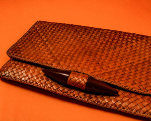 Weaved Rattan Clutch Bag - The Bearded Gypsy Vintage Co.