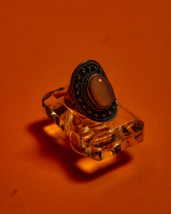 Scarlet Silver Ring - The Bearded Gypsy Vintage Co.