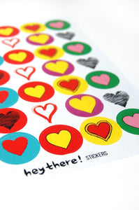 Hey There Stickers Heart Stickers - The Bearded Gypsy Vintage Co.