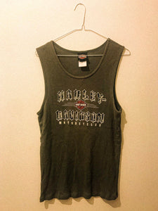 Harley Davison Ribbed Vest - The Bearded Gypsy Vintage Co.