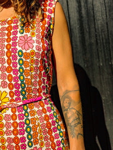 Flower Power 60's Dress - The Bearded Gypsy Vintage Co.