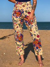 Load image into Gallery viewer, Rare Vintage 90's Fiorucci Flower Power Capri Pants - The Bearded Gypsy Vintage Co.