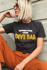 Support Your Local Dive Bar Tee - The Bearded Gypsy Vintage Co.