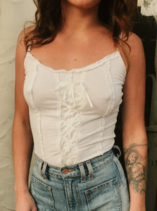 Cute Lace Up Summer Top - The Bearded Gypsy Vintage Co.