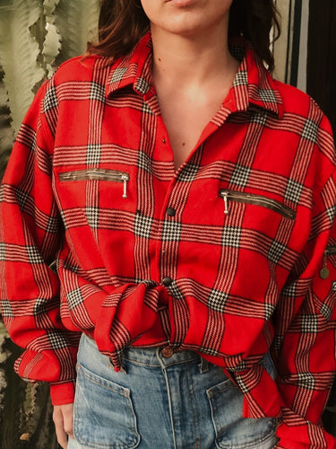 Long Beach Red Check Shirt - The Bearded Gypsy Vintage Co.