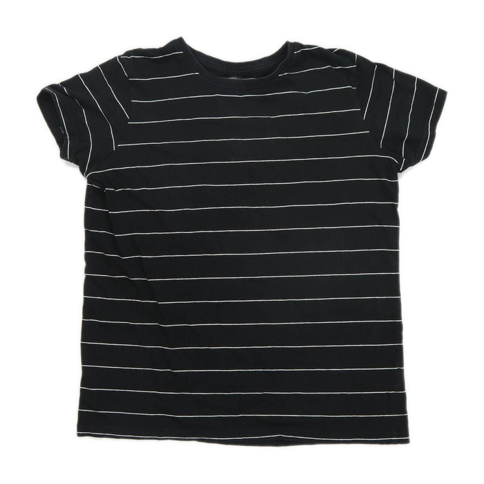 Primark Boys Striped Black T-Shirt Age 12-13 Years