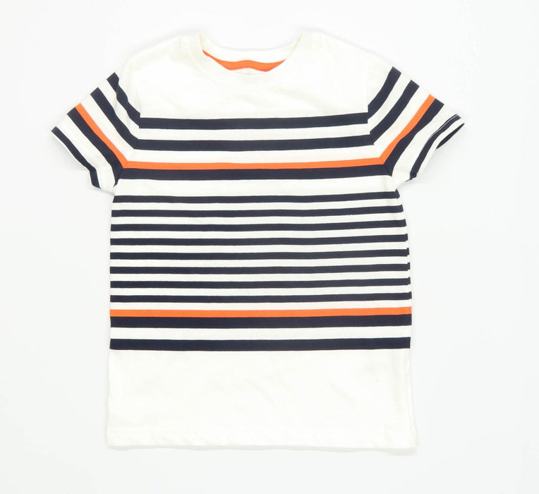 Nutmeg Boys Striped Multi-Coloured T-Shirt Age 5-6 Years