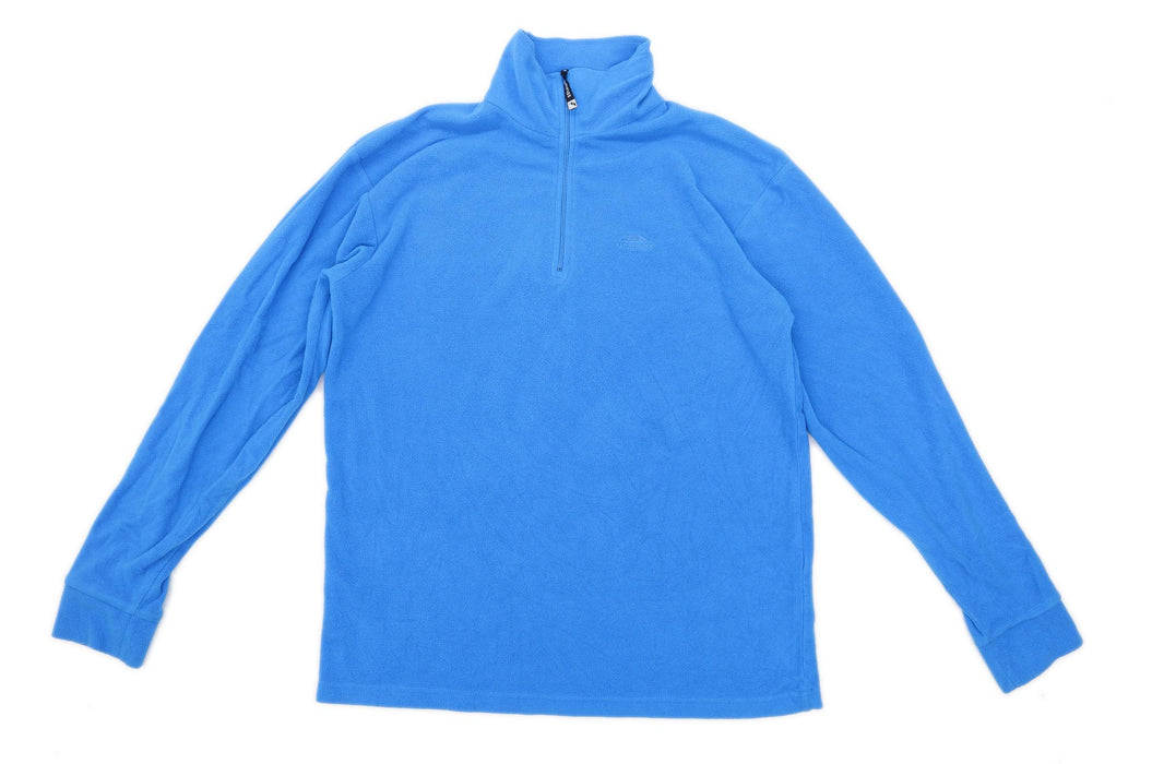 Trespass Mens Size M Fleece Blue Jacket