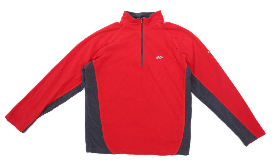 Trespass Mens Size M Fleece Red Jacket