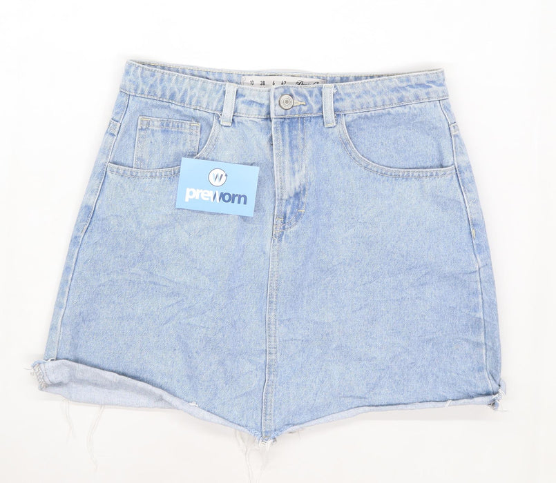 Denim Co Womens Size 10 Denim Blue Skirt (Regular)