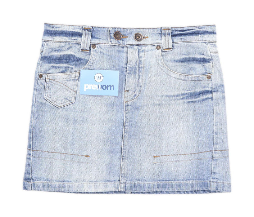 Big Stone Womens Size M Denim Blue Skirt (Regular)