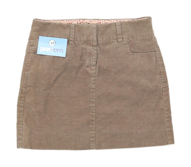 J Crew Womens Size W31 Corduroy Blend Textured Brown Skirt (Regular)