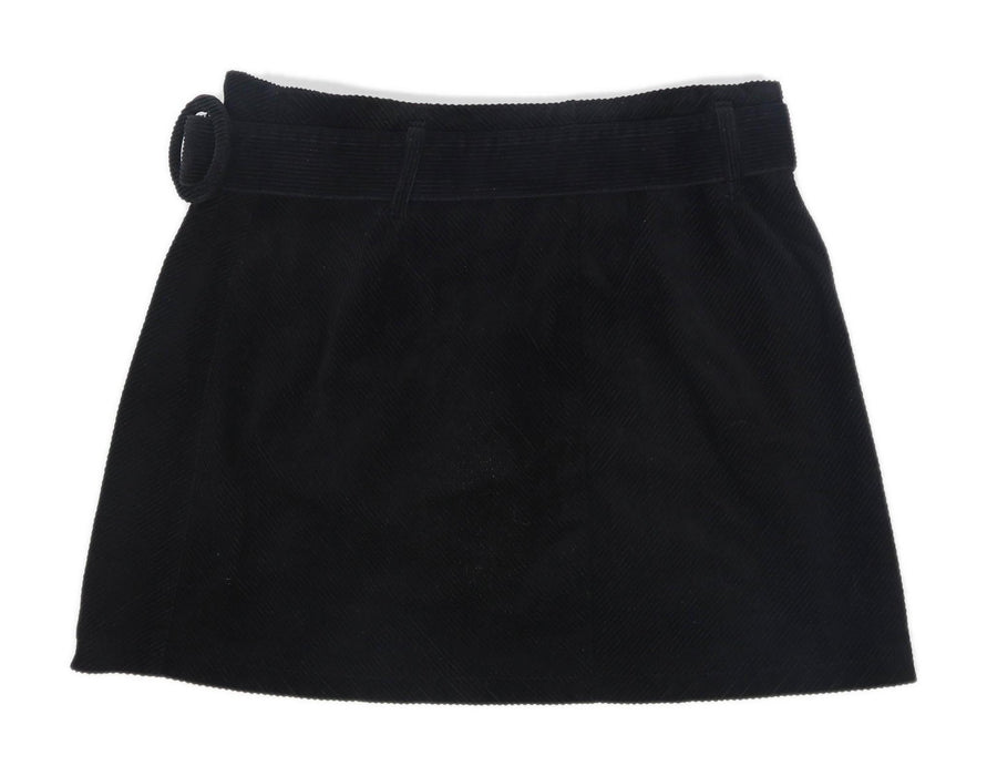 Denim Co Womens Size 14 Corduroy Blend Black Skirt (Regular)
