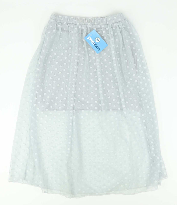 Atmosphere Womens Size 6 Grey Spotted Skirt (Regular)
