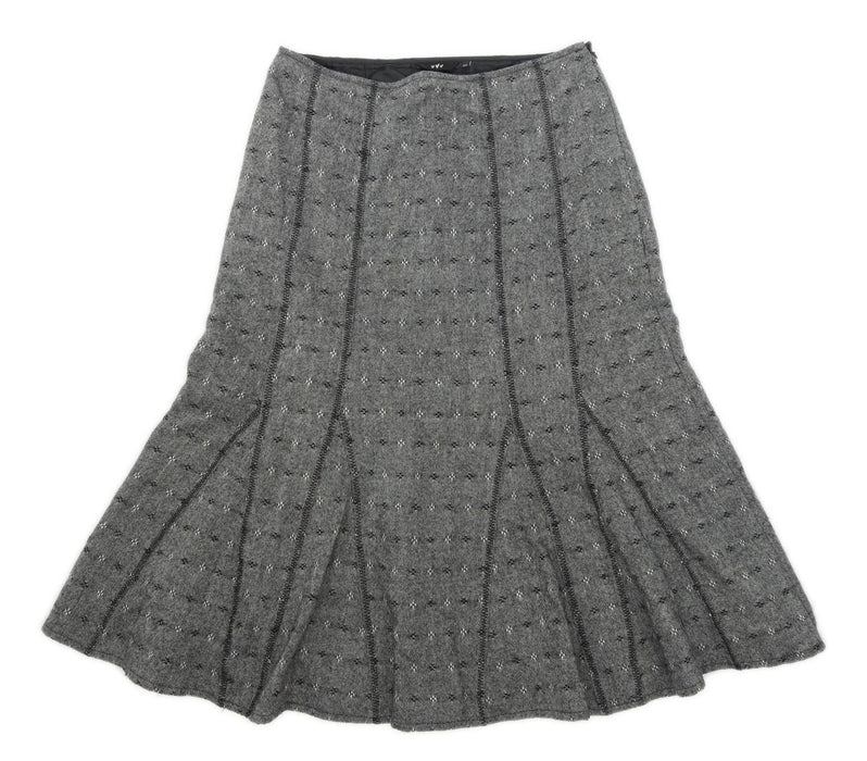 Marks & Spencer Womens Size 12 Wool Blend Grey Skirt (Regular)