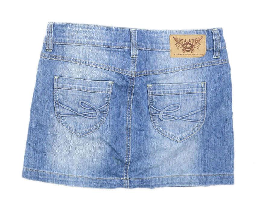 Authentic Denim Womens Size W32 Denim Blue Skirt (Regular)