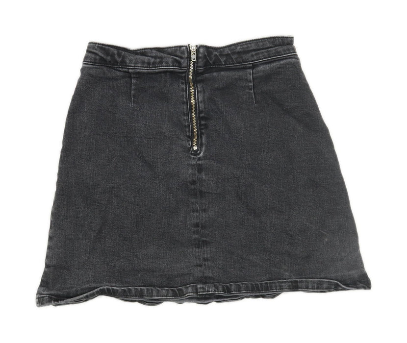 Asos Womens Size 6 Denim Grey Skirt (Regular)