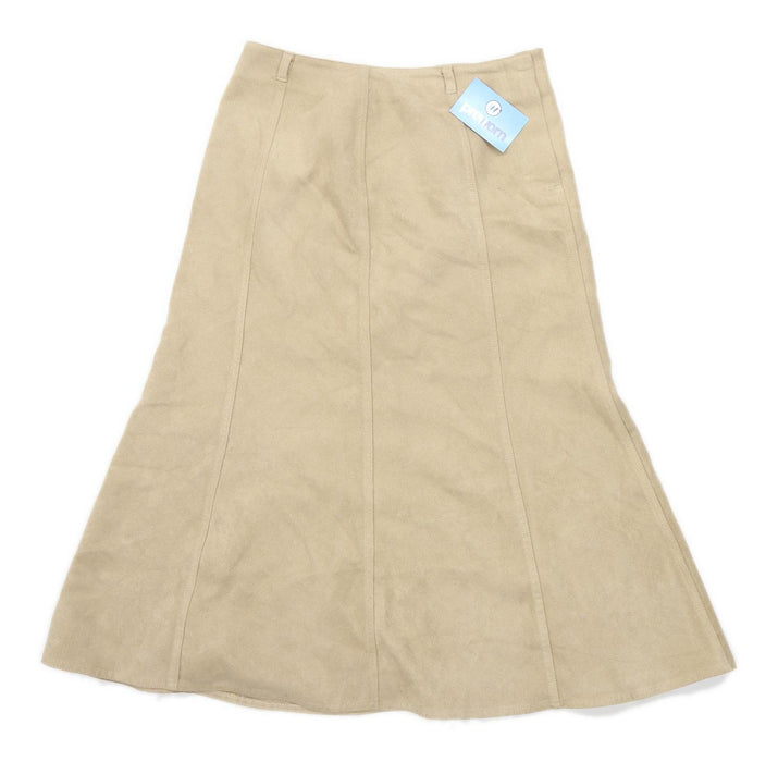 Marks & Spencer Womens Size 14 Beige Flare Skirt (Regular)