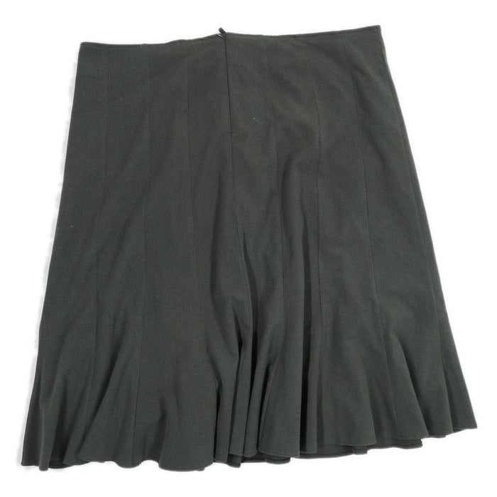 BM Collection Womens Size 24 Green Flare Skirt (Regular)