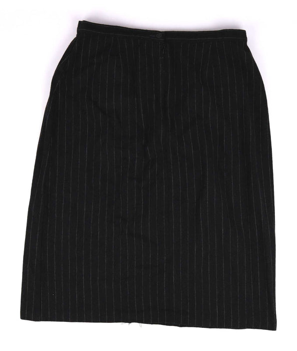 Marks & Spencer Womens Size 20 Grey Striped Wool Blend A-Line Skirt (Regular)
