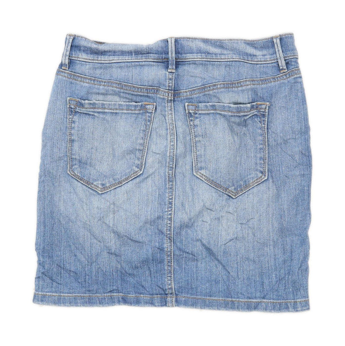 Loft Womens Size W30 Denim Blue Skirt (Regular)