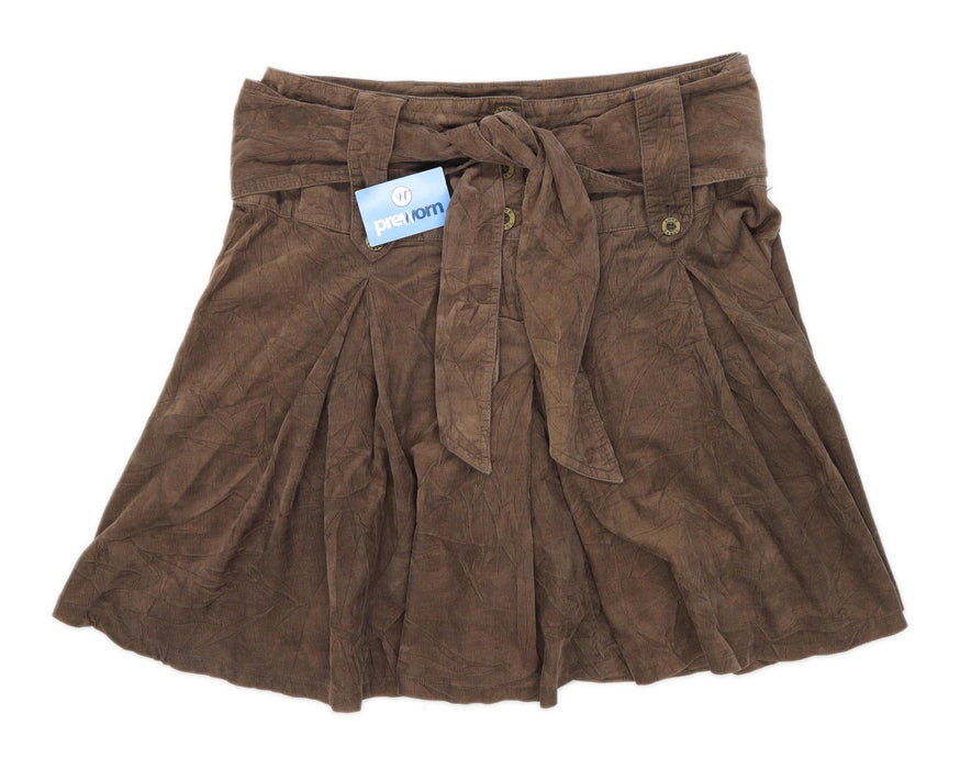 Love Label Womens Size 16 Cotton Brown Skirt (Regular)
