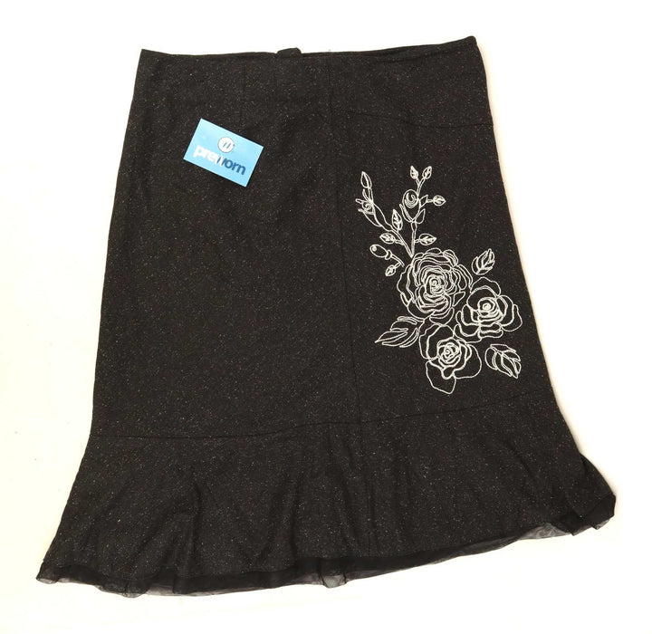 George Womens Size 16 Floral Grey Skirt (Regular)