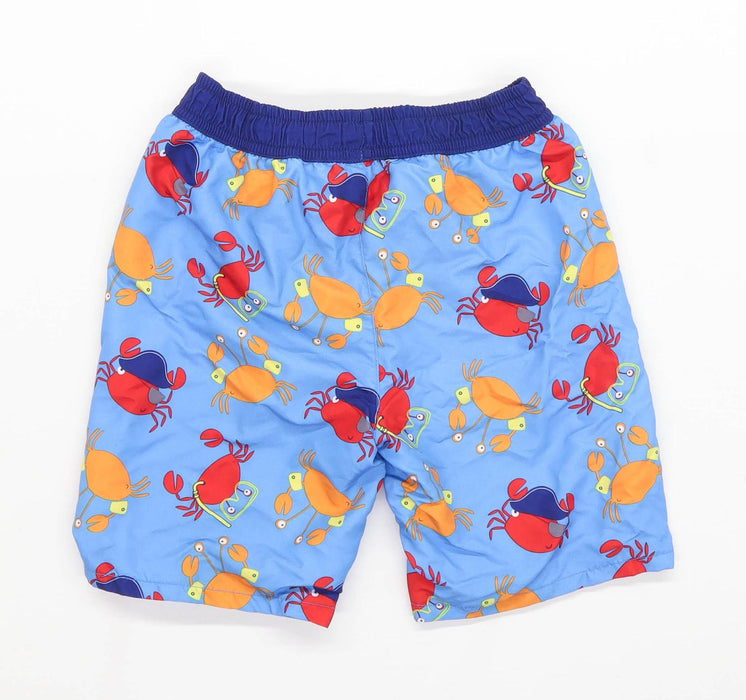 Urban Rascals Boys Graphic Blue Crabs Elasticated Waist Swim Shorts Age 6 Years
