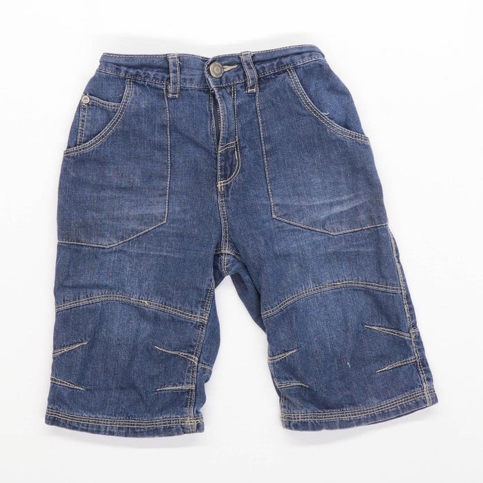TU Boys Blue Zip Up Shorts Age 7 Years