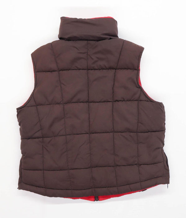 Sierra Boys Brown Puffa Reversible Gilet Age 8 Years