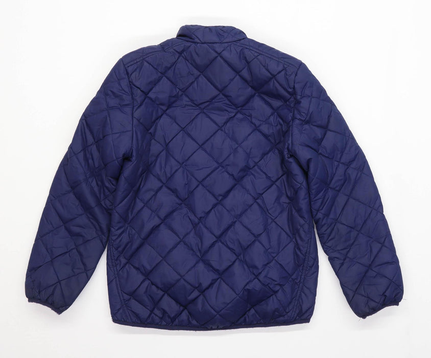 Ralph Lauren Boys Textured Blue Quilted Coat Age 8-10 Years